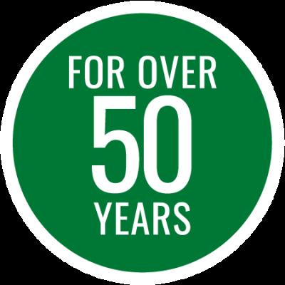 Fifty Years Badge